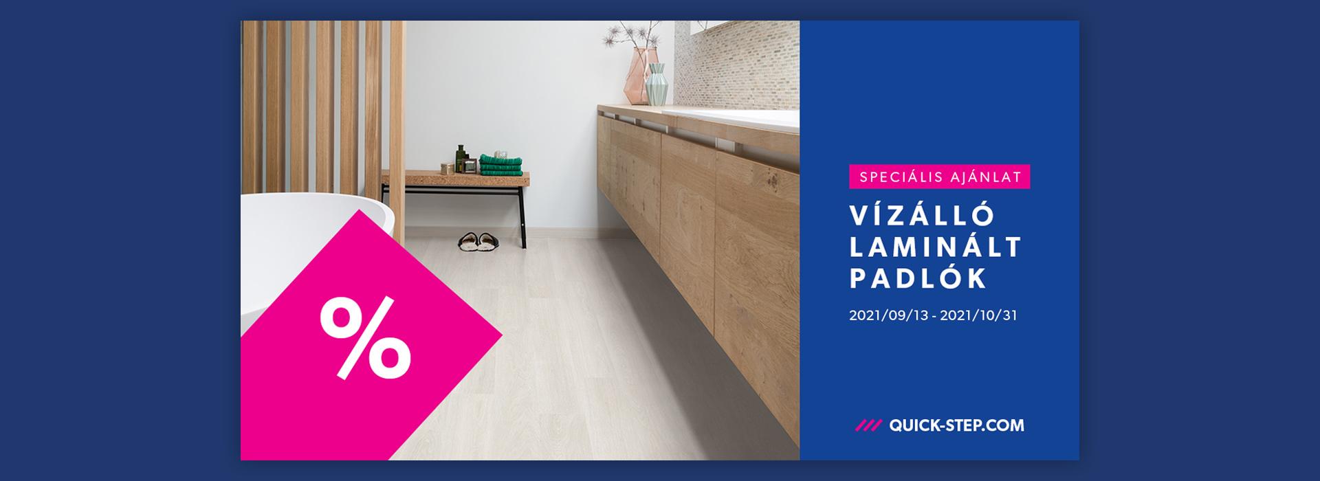 Quick-step laminált padló akció