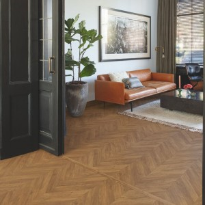 Halszálka és chevron mintás laminált padló