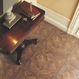 Intarzia mintás laminált padló